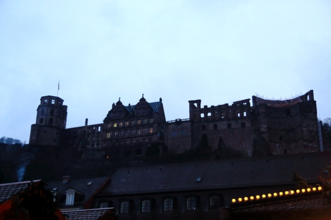 View of castle as we left at night