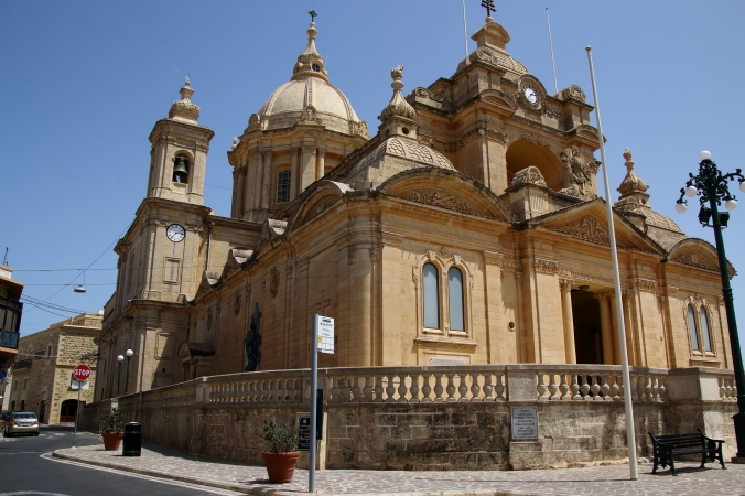 church in the town we stayed, Nadur